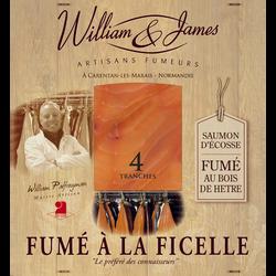 Saumon fumé à la ficelle WILLIAM ET JAMES, x4 soit 100g