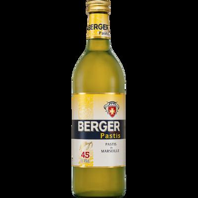 Pastis BERGER,45°, bouteille de 70cl