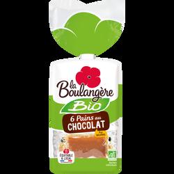 Pain au chocolat bio LA BOULANGERE, 6x270g