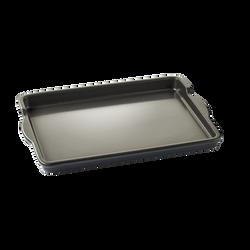 Plancha céramique flamme 40cm 400x299x38 noir-revêtement intérieur etextérieur en céramique émail noir-compatibilitéfour, tous feux sauf induction