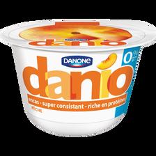 Spécialité laitière sucrée sur lit de pêches 0% de MG DANIO, 150g