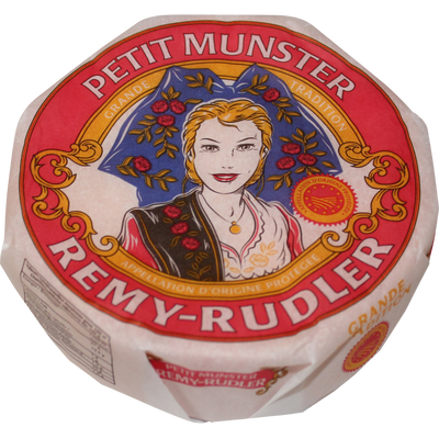Munster AOP au lait pasteurisé, 27% de MG, Rémy Rudler, 200g