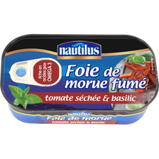 Foie de morue fumé tomates séchées et basilic, NAUTILUS, 120g