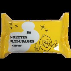 Lingettes multi-usages parfum citron recharge, x80