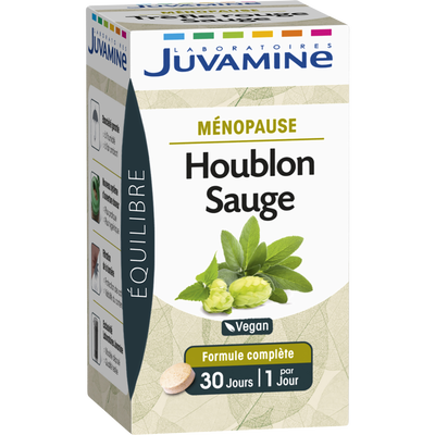 Equilibre ménopause houblon sauge JUVAMINE, 30 comprimés