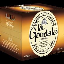 Bière blonde LA GOUDALE, 7,2° 12x25cl