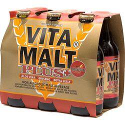 Boisson maltée sans alcool, VITA MALT plus, pack de 6x33cl