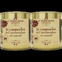 Cassoulet Castelnaudary au confit de canard MAISON RIVIERE, 2x4/4, 840g