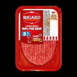 Steak haché, 5% Mat.Gr, BIGARD, France, 1 pièce, 125g