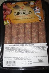 SAUCISSE HERBES X6 GIFFAUD LES EPESSES