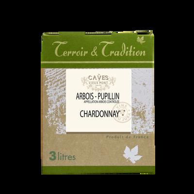 Arbois-pupillin Chardonnay LES CAVES DU VIEUX MONT, bag-in-box 3 l