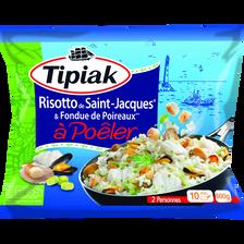 Risotto Saint Jacques & fondue de poireaux surgelé, TIPIAK, 600g