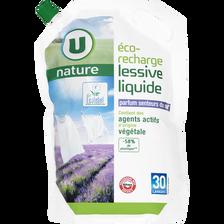 Lessive liquide senteur du sud U NATURE, recharge de 2l