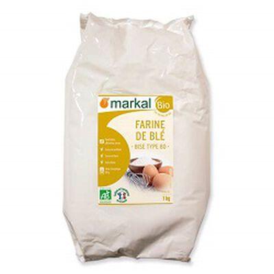 Farine de blé BIO de type 80, MARKAL, 1kg