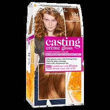 Coloration permanente CASTING Crème Gloss, miel ambré n°734