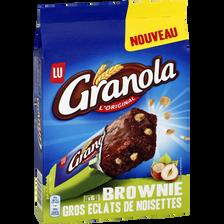 Brownie gros éclats de noisettes, GRANOLA LU, paquet de 180g