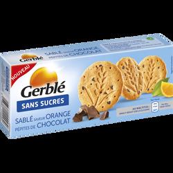 Sablé saveur orange et pépites de chocolat sans sucres GERBLE, 132g