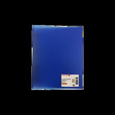 Classeur souple, format A4, dos 25mm, bleu
