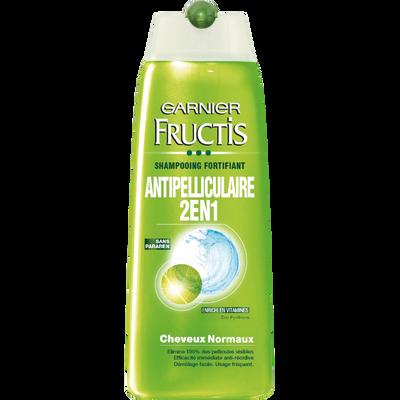 Shampooing 2 en 1 antipelliculaire, FRUCTIS, flacon de 250ml