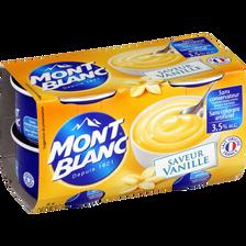 Crème dessert vanille MONT BLANC, 4x125g