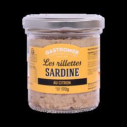 Rillettes de sardine au citron, GASTROMER, 170g