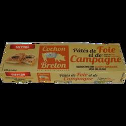 2 pâtés de foie et 1 campagne sous cartonette STEPHAN, 3 boites 1/10,240g