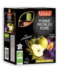 Gourde Pomme Poire Pruneau Bio Vitabio 4x120g