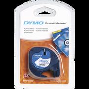 Dymo Ruban Plastique Pour Dymo Électronique, 12mmx4m, Blanc