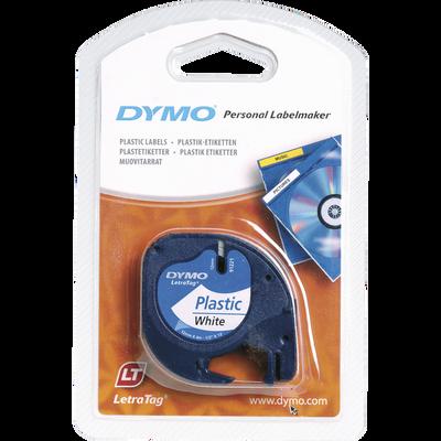 Ruban plastique pour DYMO électronique, 12mmx4m, blanc