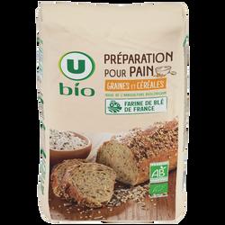 Préparation pour pain graines et céréales U BIO, 1kg