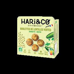 Boulettes de lentilles vertes bio courgette menthe HARI&CO 180g