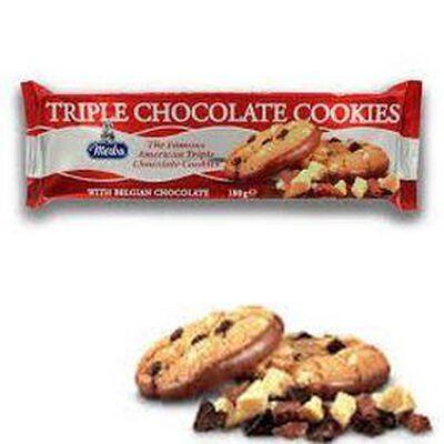 Cookies Triple Chocolat, barquette de 180g, MERLA