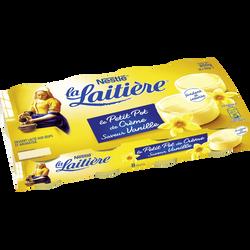 Dessert Le petit pot de crème vanille LA LAITIERE, 8x100g
