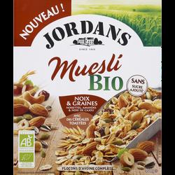 Céréales complètes muesli noix bio JORDANS 450g