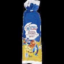 Briochettes pépites chocolat au lait U MAT & LOU, 8 unités, 280G
