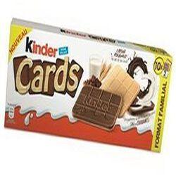 Kinder Cards Format familial. Poids 256g ( 10 paquets de 2)