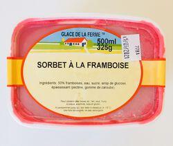 Sorbet Framboise, GLACE DE LA FERME, bac 500ml