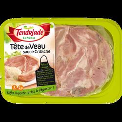 Tête de veau sauce Gribiche, TENDRIADE, Barquette 300g