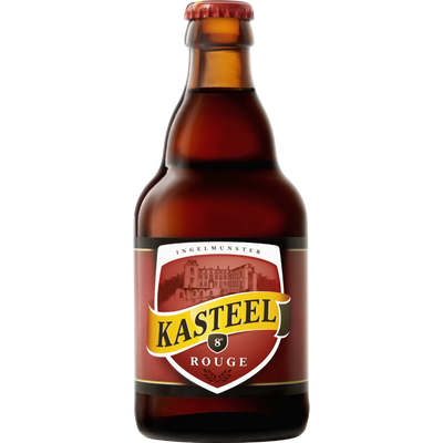 Bière belge rouge aromatisé à la cerise KASTEEL, 8°, bouteille de 33cl