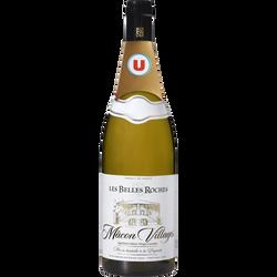 Vin blanc AOC Macon Villages Les Belles Roches U, 75cl