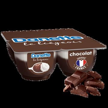Danone Liégeois Chocolat Danette, 4x100g