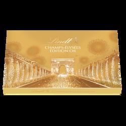 Champs-Elysées or assortiment de 17 bouchées de chocolats extra-fins au lait noirs et blancs fourrés LINDT, 182g