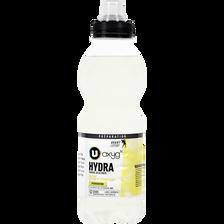 Boisson sport hydratation citron et citron vert U OXYGN, bouteille enplastique de 50cl