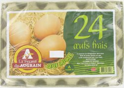 24 Oeufs frais moyens LA FERME DE AUGRAIN