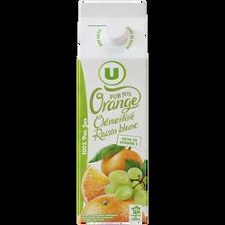 Pur jus réfrigéré orange, clémentine et raisin blanc U, 1L