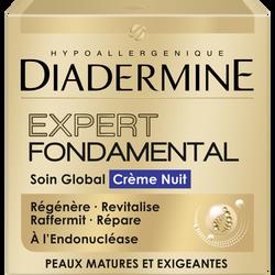 Soin crème de nuit expert fondamental DIADERMINE, pot de 50ml