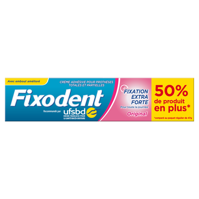 Crème adhésive original FIXODENT, 70,5g