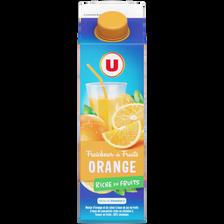 Fraîcheur de fruits orange U, brique de 1l
