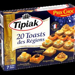 Toasts des régions TIPIAK, x20 soit 160g