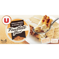 Feuilleté glacé vanille caramel U, 342g
